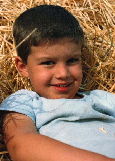 Christopher Paolini con 5 años