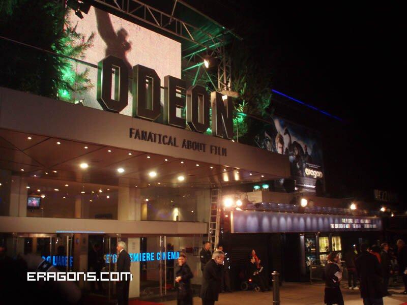 Eragon La película Premier en Londres
