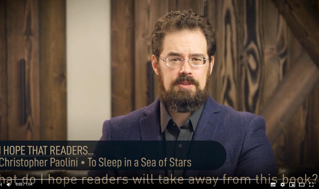 Christopher espera que los lectores... Dormir en un Mar de estrellas